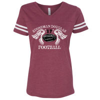 Ladies Football V Neck Tee Thumbnail
